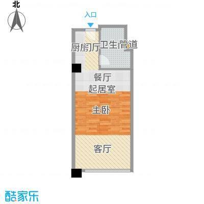 富力丽港中心61.29㎡丽港银湾03户型