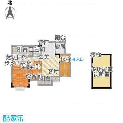 华业玫瑰谷110.36㎡H-6、7栋顶层复式户型