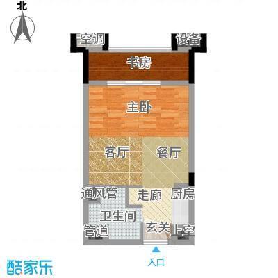 湘腾商业广场40.00㎡逸冠空间户型