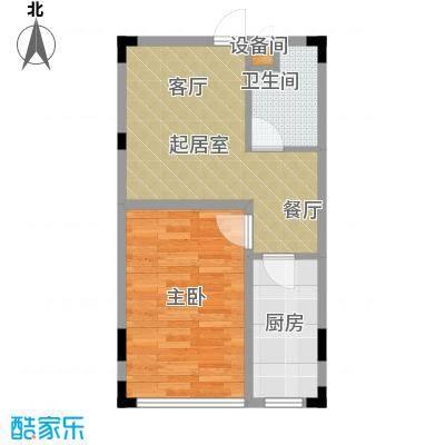 亿洲百旺郦城45.94㎡-2户型