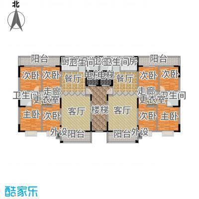鸿景雅苑户型8室2厅4卫2厨
