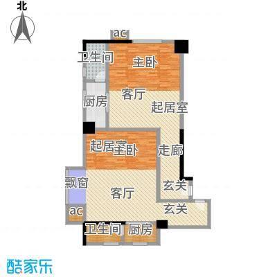 汇富中心58.16㎡B1B2户型