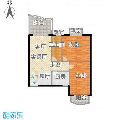 世纪佳园户型2室1厅1卫1厨