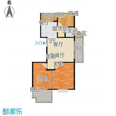 学府华庭84.00㎡三阳台户型