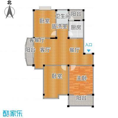 瀛洲湾花园户型1室1厅1卫1厨