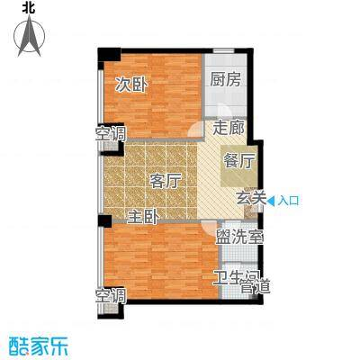龙吟广场户型2室1厅1卫1厨