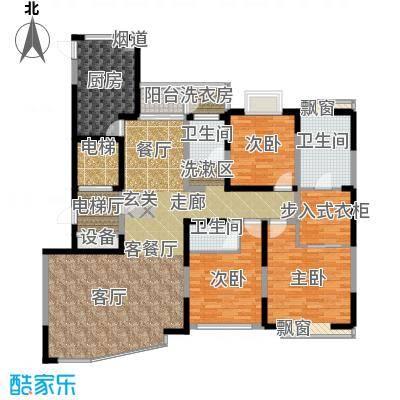 白莲・缘和苑户型3室1厅3卫1厨