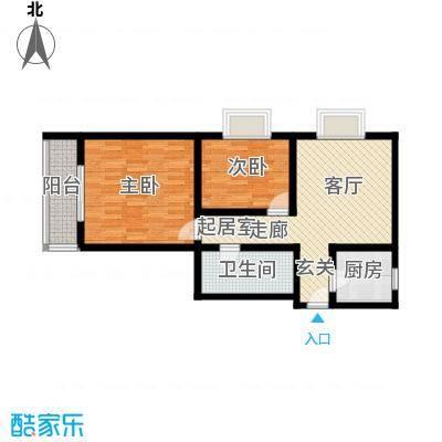 鼎新花园72.59㎡户型