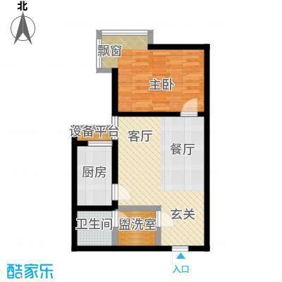 广丰花园55.68㎡户型