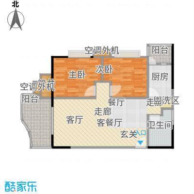 聚维书香世家63.00㎡房型户型