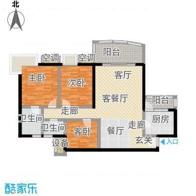 三木阳明华庭113.08㎡房型户型