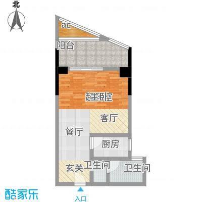 汇富中心46.87㎡B10户型