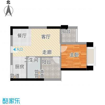 华发新城60.00㎡lomo乐摩M3平层公寓户型