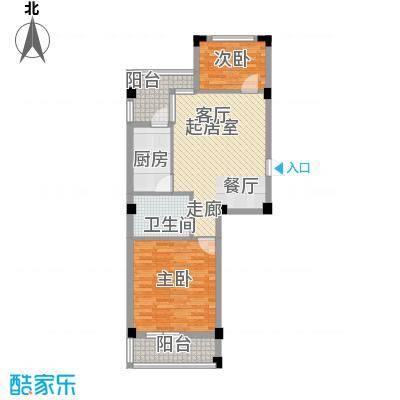 东城国际64.00㎡户型