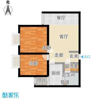 广丰花园72.60㎡户型