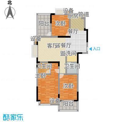 丽星景园124.04㎡甘01户型