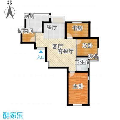 万泉枫景91.00㎡房型户型