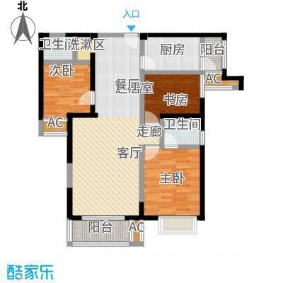 林海阳光户型3室2卫1厨