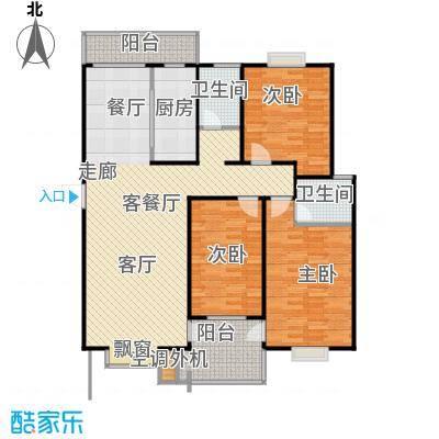 圣源新居户型3室1厅2卫1厨