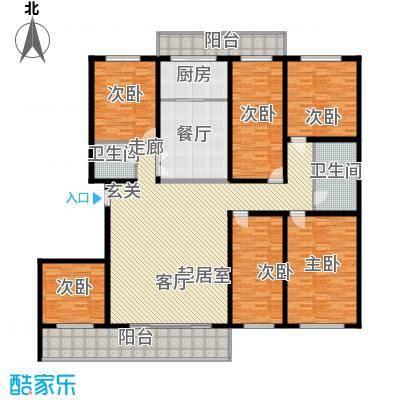 兆宸公寓264.77㎡单卫户型