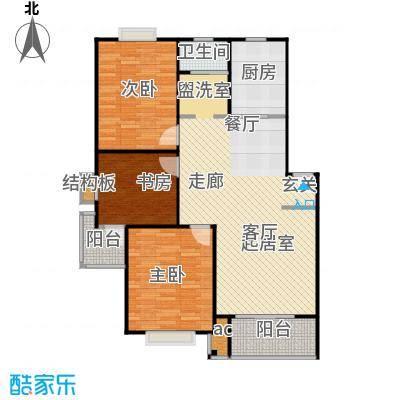 盛泉新城户型3室1卫1厨