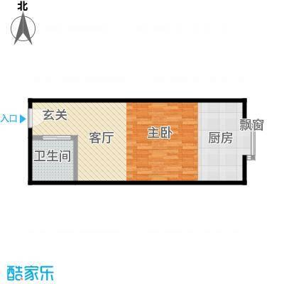 立丰国际公寓52.76㎡户型