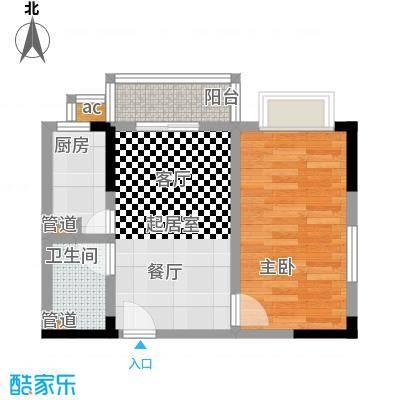 华安水岸立方51.50㎡B-1户型