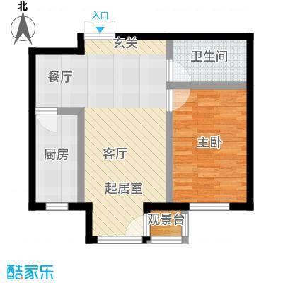 明华西江俪园60.00㎡房型户型