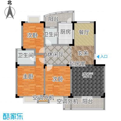 青麓雅园户型3室2卫1厨