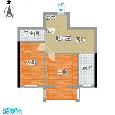 宏胜花园62.00㎡-1户型