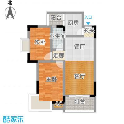 百禾星宿67.89㎡房型户型