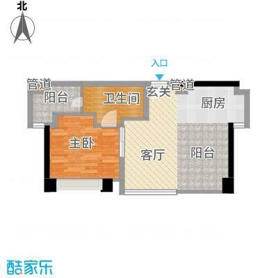 华发新城67.00㎡lomo乐摩M2平层公寓户型