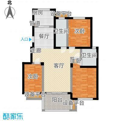 文锦新城户型3室1厅2卫1厨