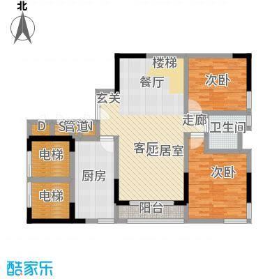 峰景鉴筑E-102-复式下层-户型