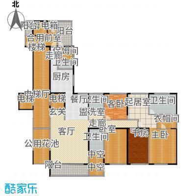 融景湾户型3室1厅4卫