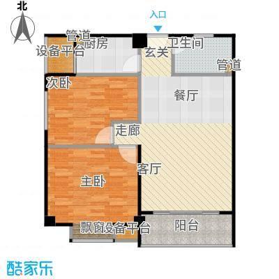 香港公馆户型1室1厅1卫1厨
