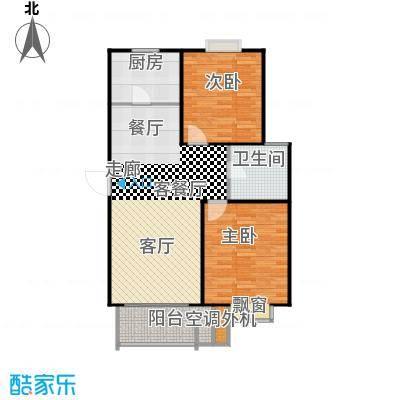 圣源新居户型2室1厅1卫1厨