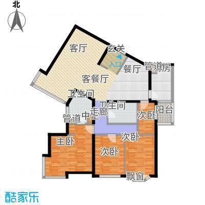 城建花园户型4室1厅2卫1厨