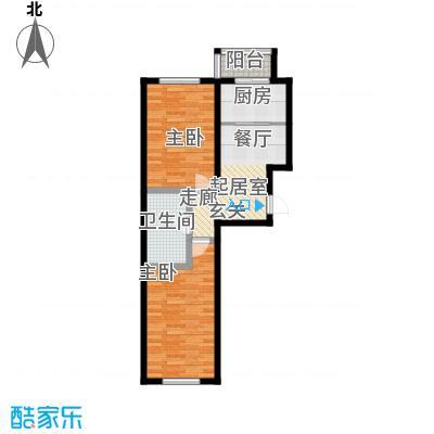 天吉锦程苑74.51㎡-1户型