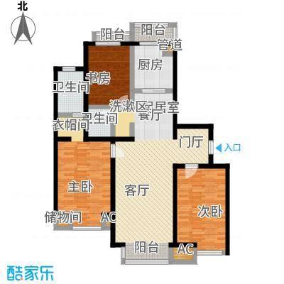 水木清华122.00㎡房型户型