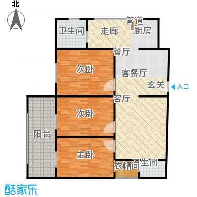 煜卫泽园户型3室1厅2卫