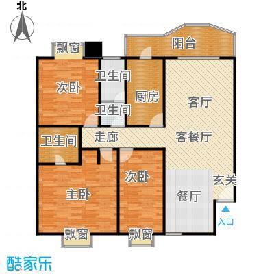 麓谷雅园户型3室1厅3卫1厨