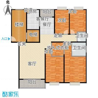 天峰名苑户型4室1厅2卫1厨