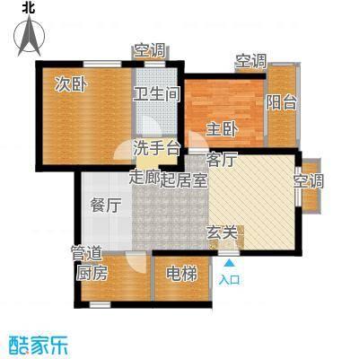 锦绣泉城户型2室1卫1厨