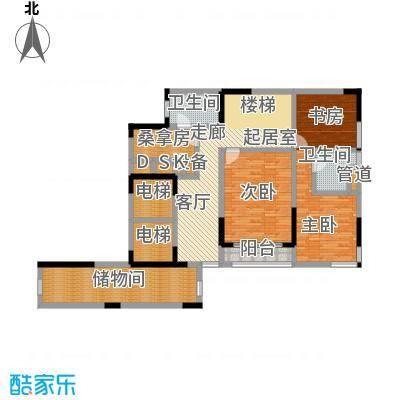 峰景鉴筑E-102-复式上层-户型