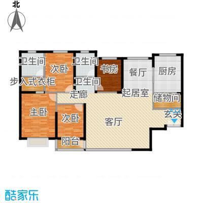 青洲豪庭158.40㎡C1户型