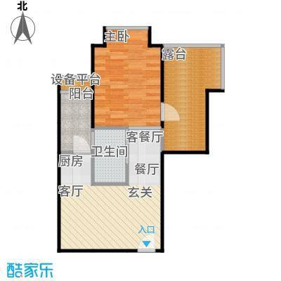 晶城户型1室1厅1卫