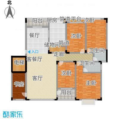 山水花都户型5室1厅2卫1厨