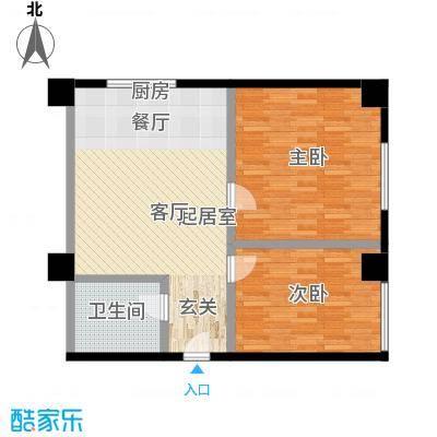 舜江广场76.51㎡户型