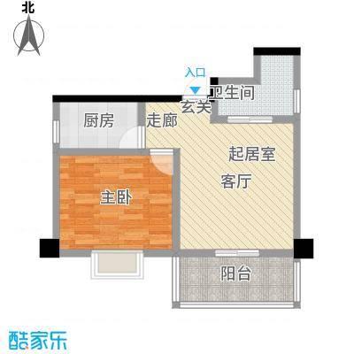 高桥财富大厦户型1室1卫1厨